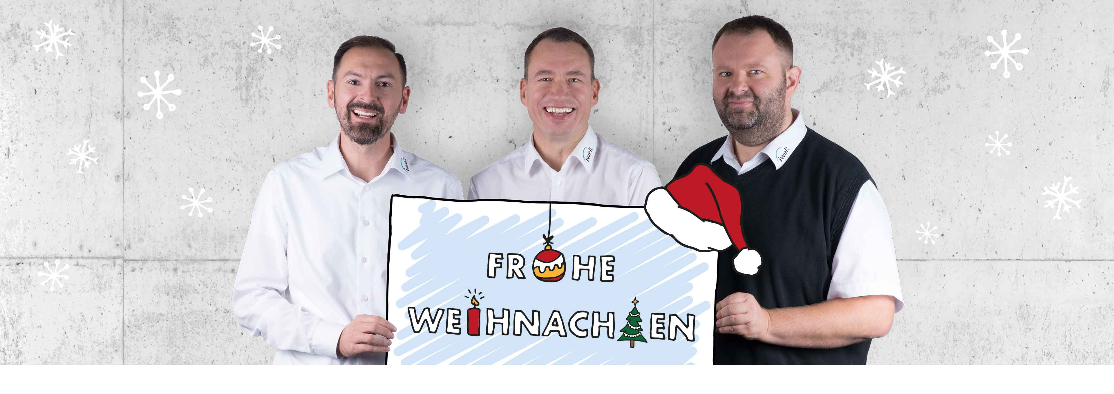 Frohe Weihnachten wünscht die iWelt AG